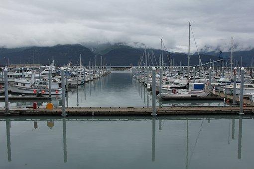 Seward Marina, Alaska, Boats, Marina, Fishing, Harbor