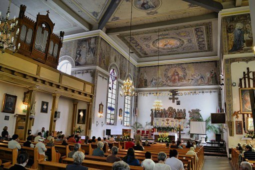Czaplinek, Poland, Church, Interior, Inside