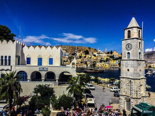 Simy, Island, Tower, City, Palm, Great, Sun, Summer