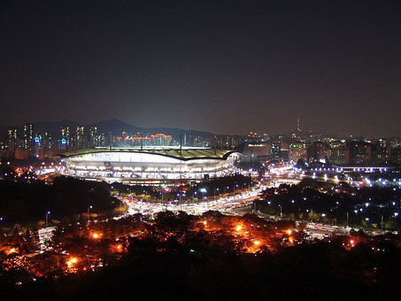 Sangam Stadium, Korea, Seoul, Night View