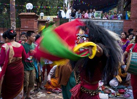 Lakhe, Newar, Festival, Nepal, Religion, Ritual Nepal