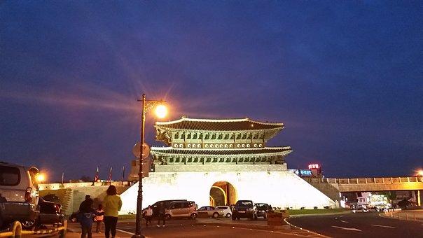 Suwon Castle, Republic Of Korea, Suwon, Night View