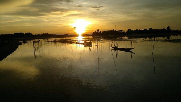 Bangladesh, Sunset, Twilight, Dusk, Dawn, Swamp, Ocean