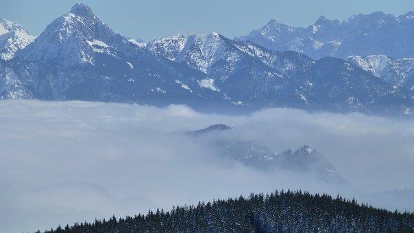 Allgäu, Fog, Panorama