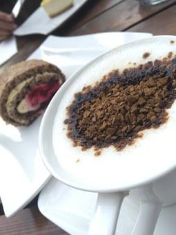 Coffee, Sweet, Cake, Food, Cafe, Restaurant, Nescafe