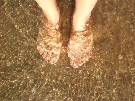 Sea, Beach, Sea Water, Feet, Fashion, Sand