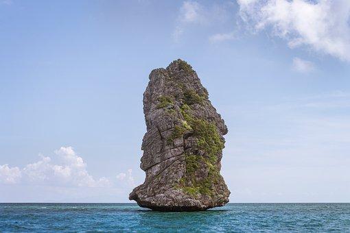 Thailand, Golf, Sea, Rock, Ocean, James Bond