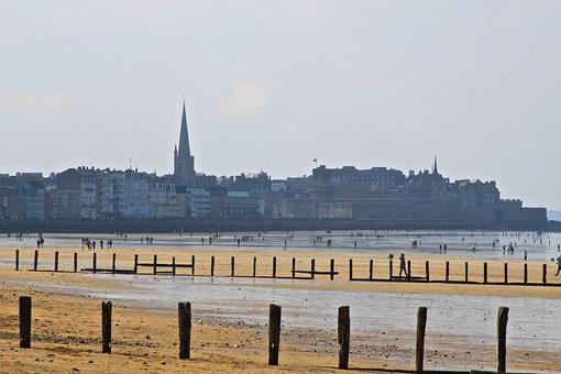 Saint Malo, Sea, Ocean, Brittany, The Sillon Beach