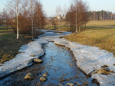 Creek, Icy, Winter, Ice, Nature, Water, Stream, Cold