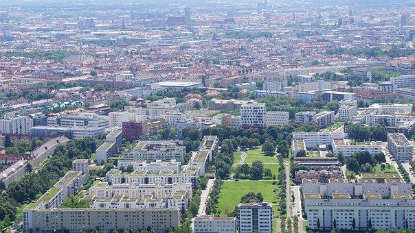 Munich, Bayern, Bavaria, City, Panorama, Muenchen