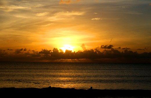 Pantai Kuta, Bali, Indonesia, Asian, Beach, Sunset