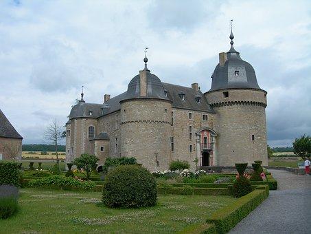 Belgium, Chateau, Castle, Château De Lavaux-sainte-anne