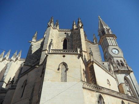 Cathedral, Church, Imposing, High, Architecture
