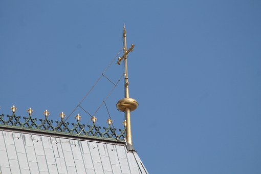 Cross, Gold, Roof, Cologne Cathedral, Building, Believe