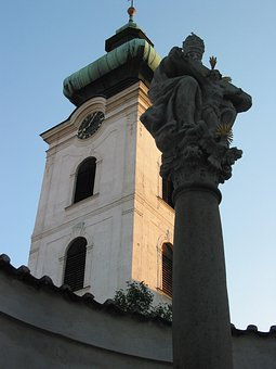 Church, Jesus, Cross, Czech Republic, Building, Column