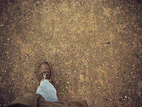 Foot, Tread, Treading, Floor, Soil, Earth, Texture