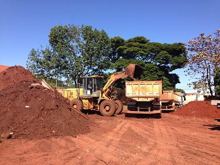 Work, Trucks, Earthwork, Excavator, Ground