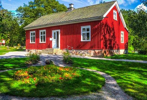 House, Skansen, Stockholm, Sweden, Scandinavia, Europe