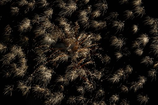 Fireworks, New Year's Eve, Night, Pyrotechnics