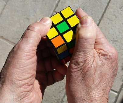 Rubik's Cube, Hands, Yellow, Cube, Game, Color, Colors