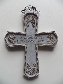 Garden, Garden Cross, Heaven On Earth, Cross