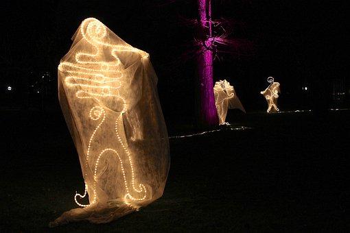 Ghost Lights, Lichtgestalt, Winter Lights, Palm Garden