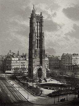 Tower, Saint Jacques, Paris, 1867, Gothic, Architecture