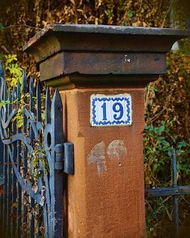 Post, Input, Stone, Metal, Garden, Fence, Old, Goal
