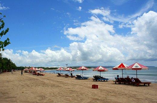 Pantai, Kuta, Bali, Indonesia, Beach, Sand, Destination