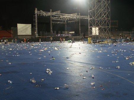 Stadium After Concert, Stadium, Concert, Litter