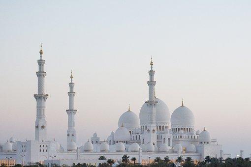 Mosque, Abu Dhabi, Grand, Muslim, Islamic, Architecture