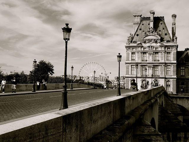 Bridge, Paris, City, Urban, Historic, Ferris, Wheel