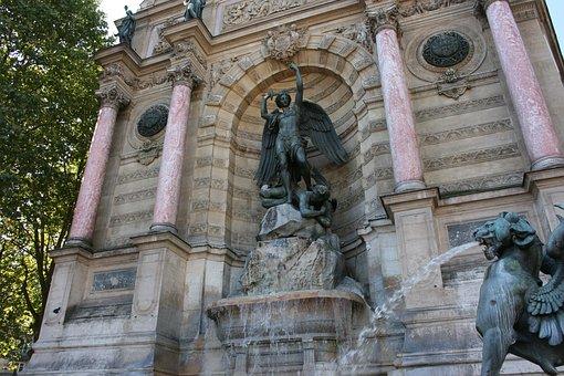 Fountain Saint-michel, Source, Paris