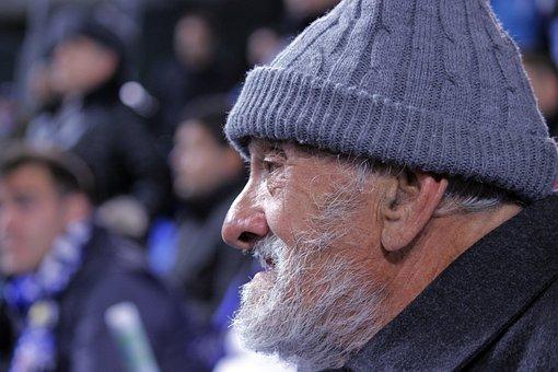 Grandfather, Elder, Old Age, Beard, Cap, Portrait