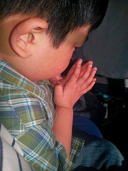 Boy, Young, Praying, Communing, Pray, Petition, Invoke