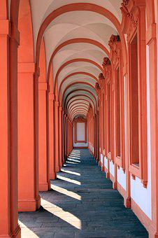 Residenzschloss, Gallery, Castle, Archway, Shadow