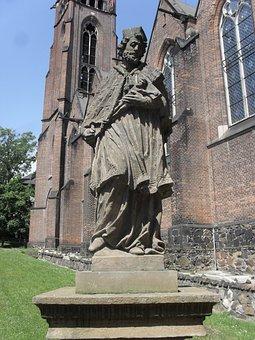 Teplice, Jana, Nepomuckého, Statue, Sculpture, Art