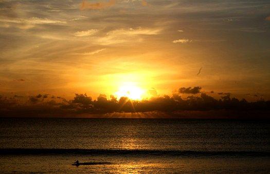 Pantai Kuta, Bali, Indonesia, Asian, Sunset, Beach