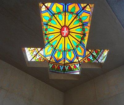 Cruz, Stained Glass Window, Colors, Symmetry