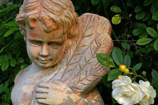 Terracotta, Terracottafigur, Terracottaengel, Angel