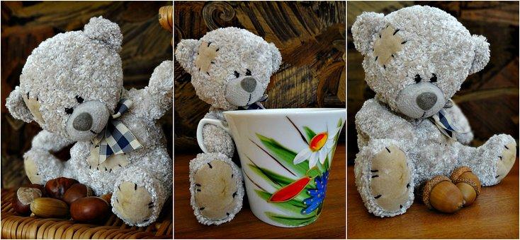 Collage, Teddy Bear, The Mascot, Plush Mascot, Cuddly