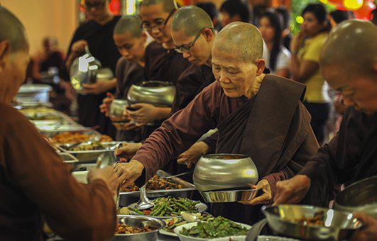 Theravada Buddhism, Nuns Taking Alms Food