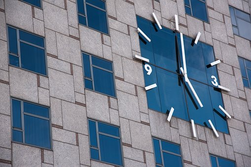 Clock, Wall, Building, Five, Hour, Time, Watches