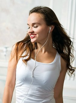 Headsets, Music, To Listen, White Background, Young