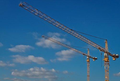 Crane, Technology, Baukran, Site, Machine, Work