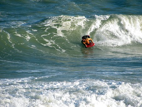 Body Board, Water Sport, Waves, Fuengirola, Beach