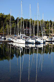 Reflection, Summer, Boat, Sea, Croatia, Hvar, Sailing