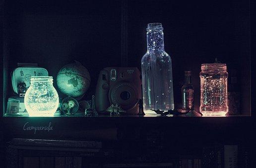 Light, Bottles, Phosphorescent