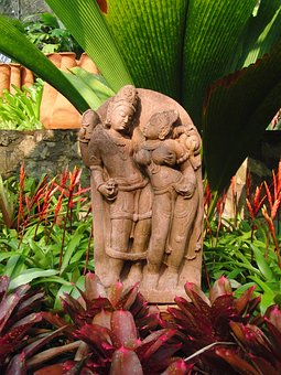 Woman And Man, Sculpture, Thailand, Folklore, Buddhism