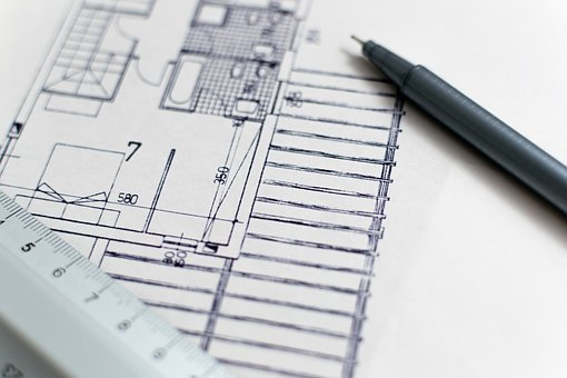 Architecture, Blueprint, Floor Plan, Construction